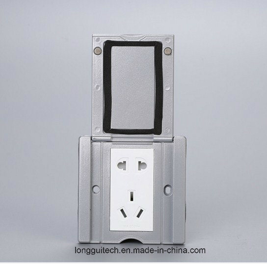 China Copper Flat Push Sliding Floor Outlet Pop Up Five Hole Floor