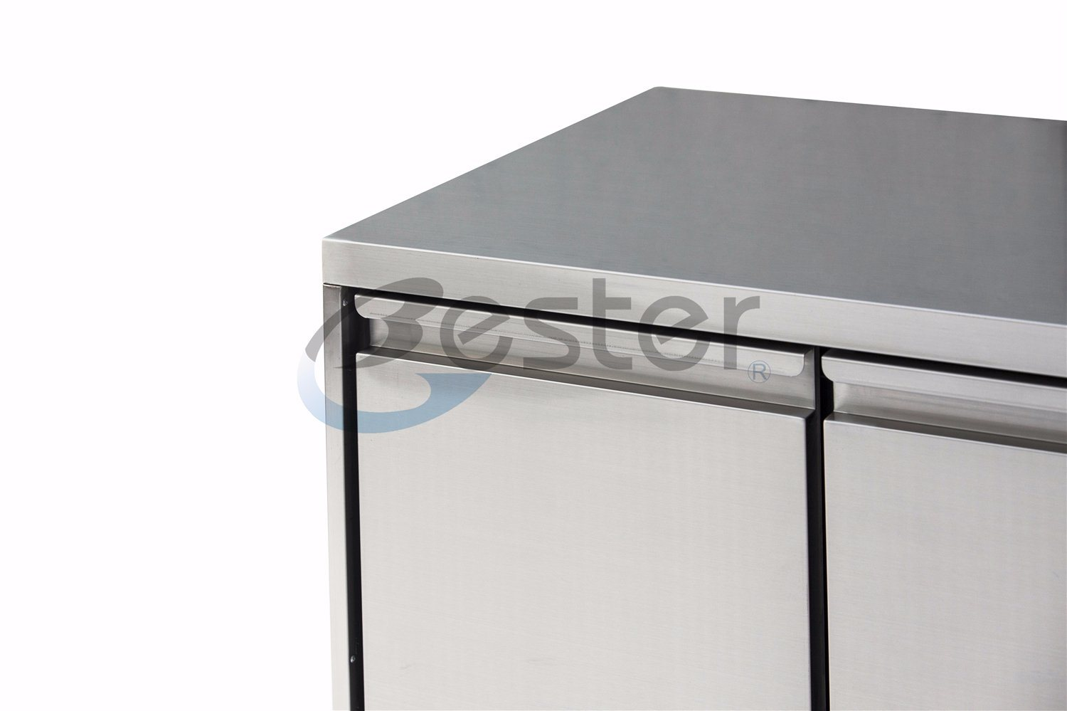China Stainless Steel Three Drawers and Two Doors Chiller Work ...