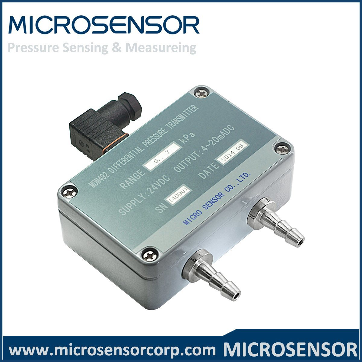 China Compact 2-Wire Differential Pressure Sensor MDM492 - China ...