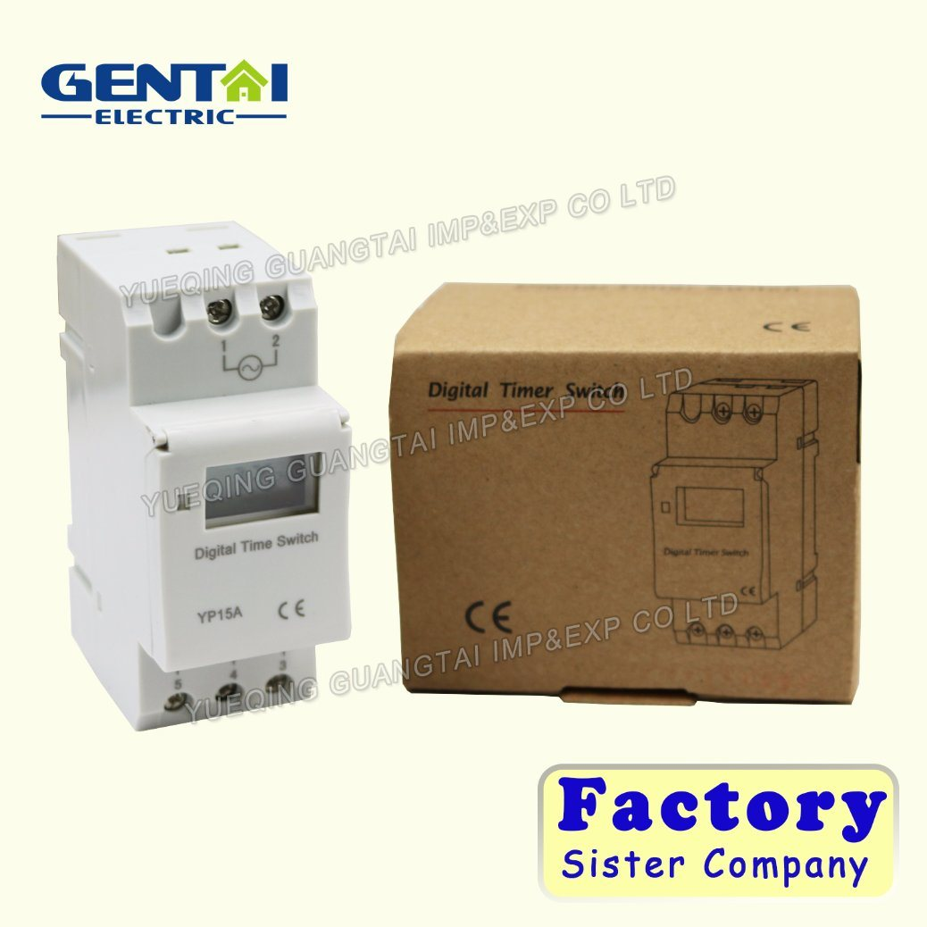China Ahc15a 50hz 24 Hour Digital Time Switch Din Rail Timer Circuit