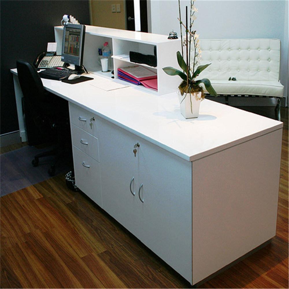 L Shape Beauty Salon Reception Desk Modern Led Counter