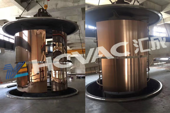 China Pvd Titanium Coating Machine For Stainless Steel Sheet Pipe