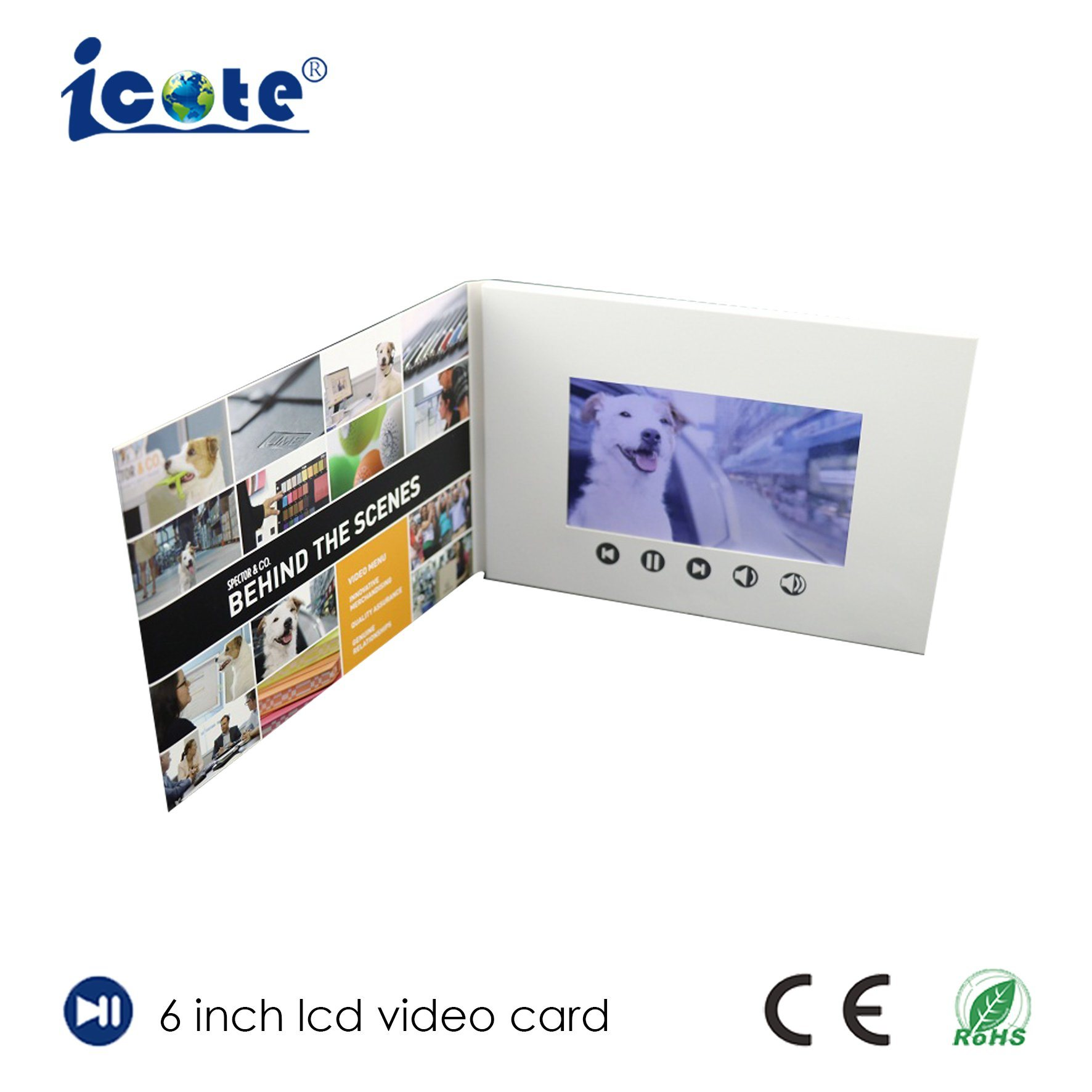 China Most Popular Brochure New Design Video Greeting Card Photos