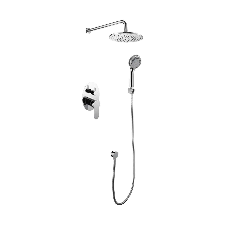 Hot Item Bathroom Mens Bath Tub Shower Faucet Mixer Valve Hardware Baby Showerhead Set Combo Wtih Towel Gift Gold Black Brushed Nickel