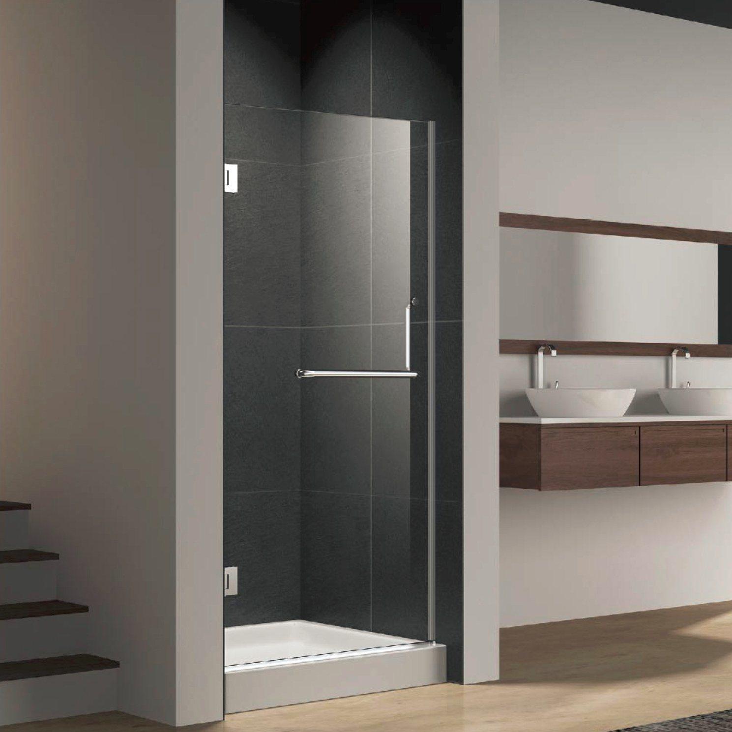 China Frameless Hinge Shower Door Screen With Stainless Steel Towel Bar China Shower Door Shower Enclosure