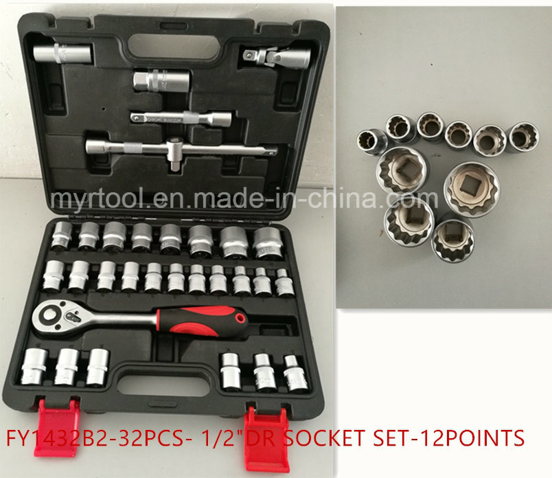 "32PCS Professional -1/2""Dr Socket Tool Set (FY1432B1) pictures & photos"