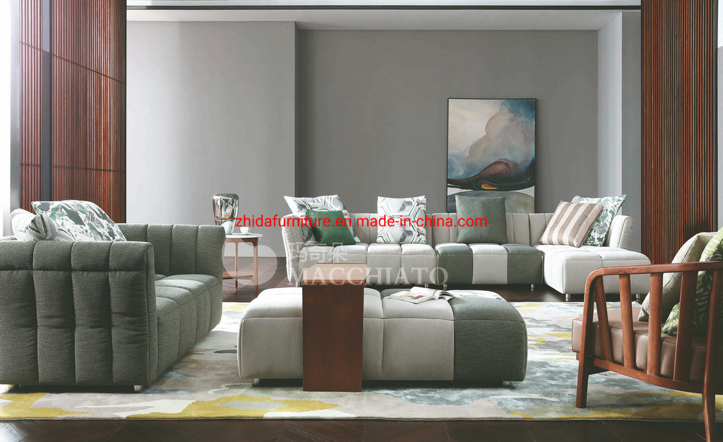 [Hot Item] New Modern Italian Corner Living Room Home Furniture Sofa (ZHIDA)