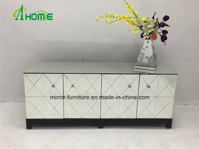Mirrored Furniture Living Room TV Stand Media Console