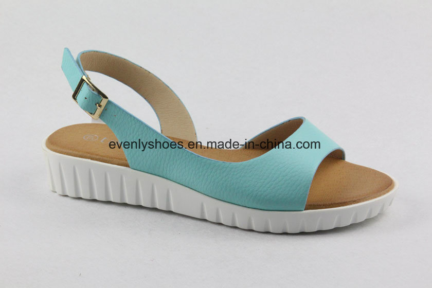 Design Colorful Lady Shoes Flat Sandal