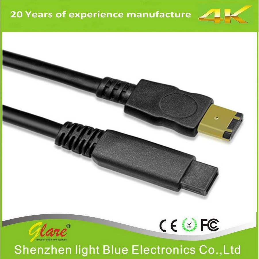 China 6FT 6p/9p IEEE 1394 Black Firewire Cable - China 1394 Cable ...