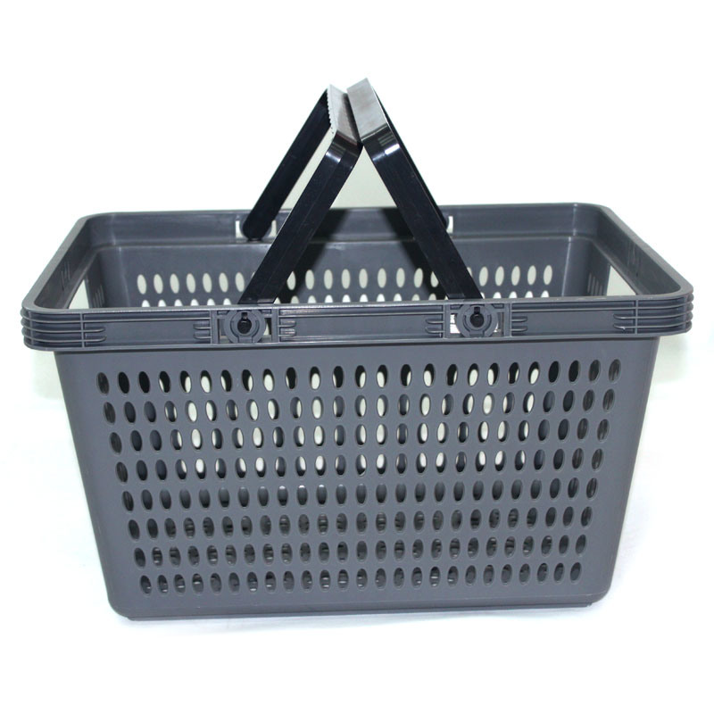 Luxury Shopping Two Handle Plastic Storage Basket pictures & photos