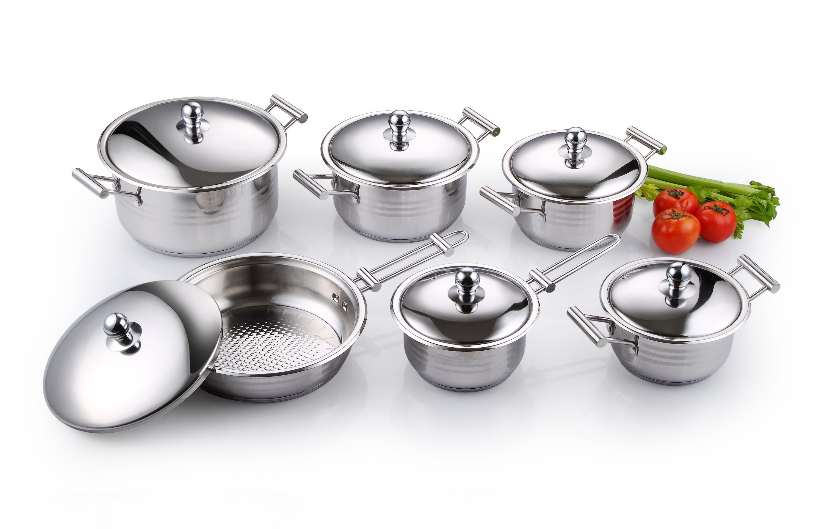 China High Quality Stainless Steel Cookware Set 12pcs Kitchenware
