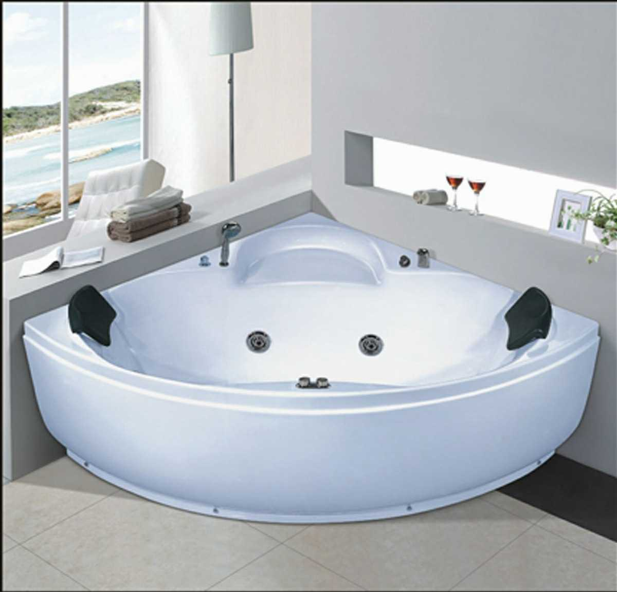 China 1300mm Corner Jacuzzi with Ce and RoHS (AT-8309) - China SPA ...