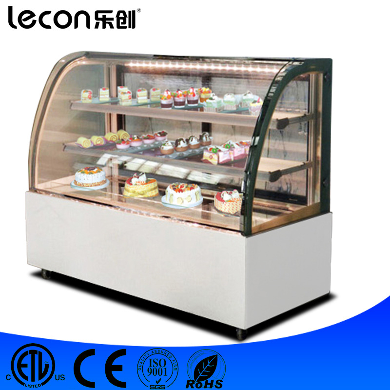 Hot Item Full Glass Window Furved Glass Display Refrigerator