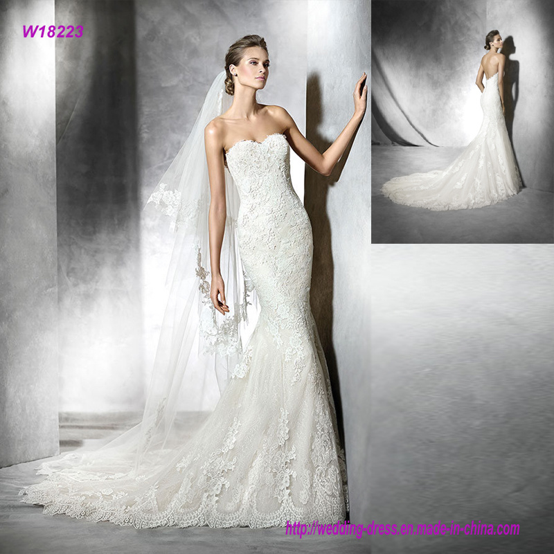 3dcdb9e76ad5 China Beautiful Sweetheart Embroidered Backless Mermaid Wedding Dress -  China Wedding Dress, Wedding Gown