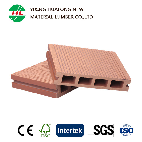 WPC Hollow Decking Wood Plastic Composite Floor for Outdoor (HLM47)