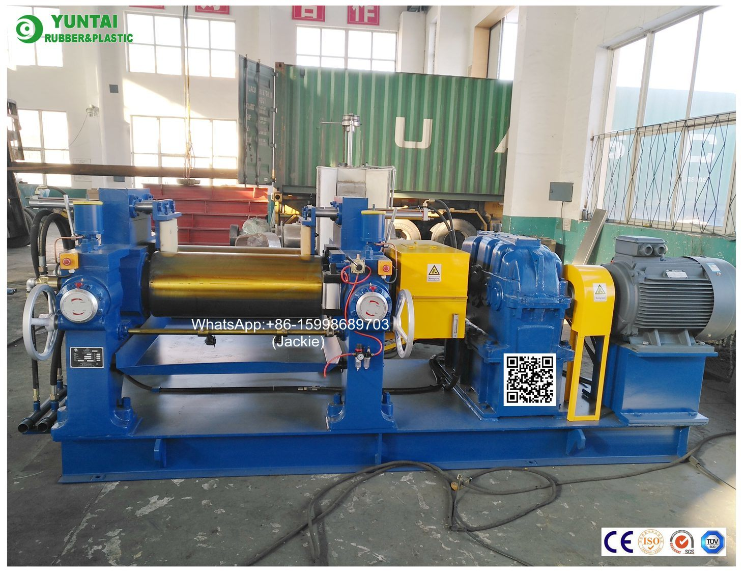 China 16 X 42 Inch Hydraulic Mixing Mill For Plastic