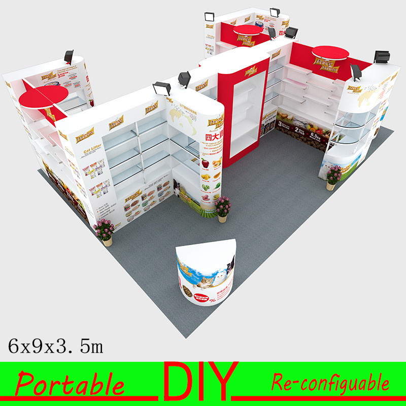 Custom Designed Sustainable Portable Modular Hybrid Inline Island Corner Exhibits