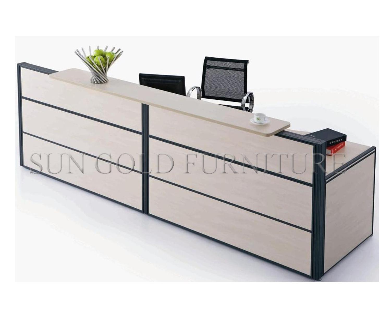Modern Furniture Beauty Salon Small White Reception Desk Sz Rt015