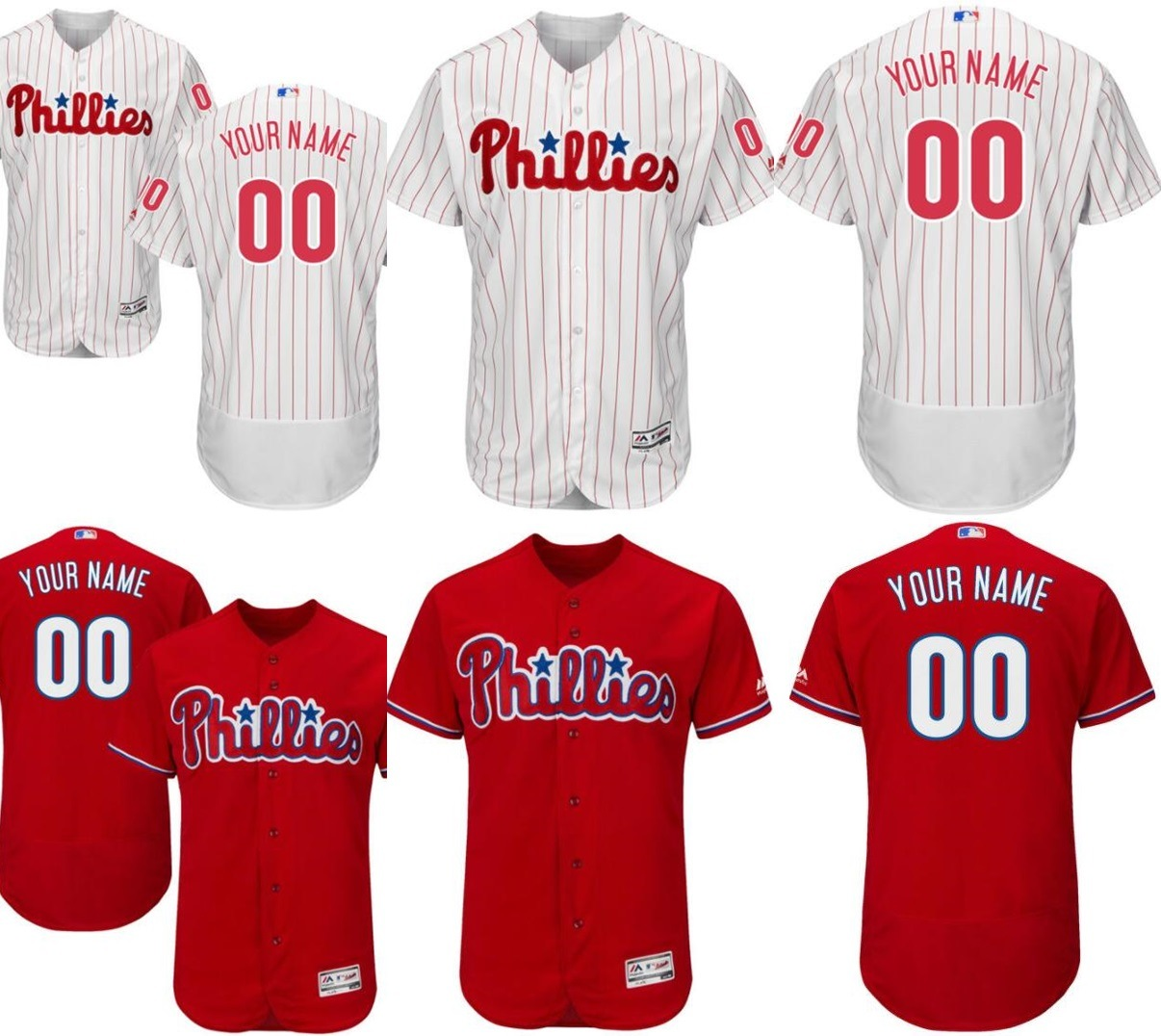 super popular 09f42 21748 [Hot Item] Customized Philadelphia Phillies Flex Base Authentic Baseball  Jerseys