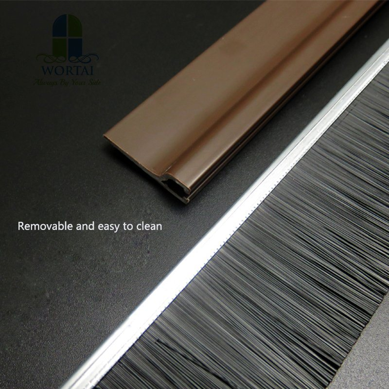 China Dust Proof Draught Excluder Sliding Door Brush Weather Strip