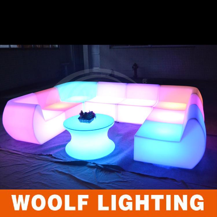 China Best Modern Plastic Light Up Indoor Led Sofa Set