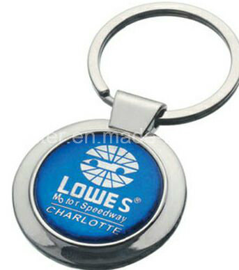 Customized Metal Keychain with Dome Logo or Laser Logo Existing Mold