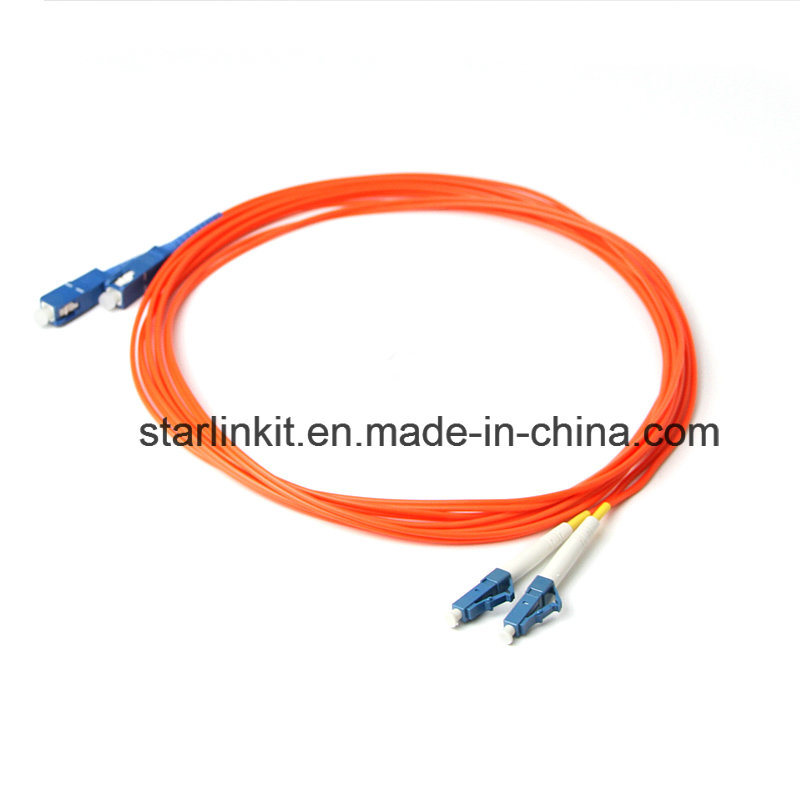 LC to SC MULTIMODE OM2 50//125 FIBER OPTIC PATCH CABLE 1m TO 20m