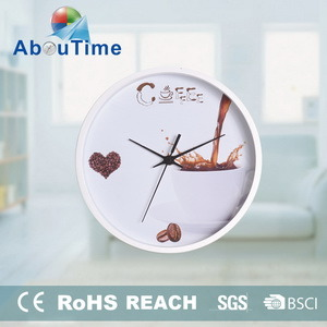 [Hot Item] Simple Design White Color Custom Quartz Muslim Prayer Time Clock