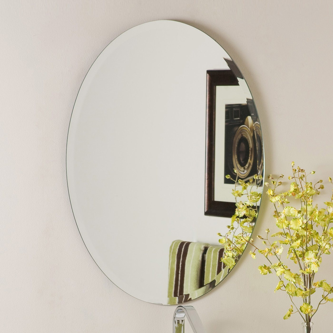 China Qingdao Unframed / Frameless Bathroom Mirrors In Different Shapes,  Made Of High Quality Waterproof Clear Silver Mirror Glass