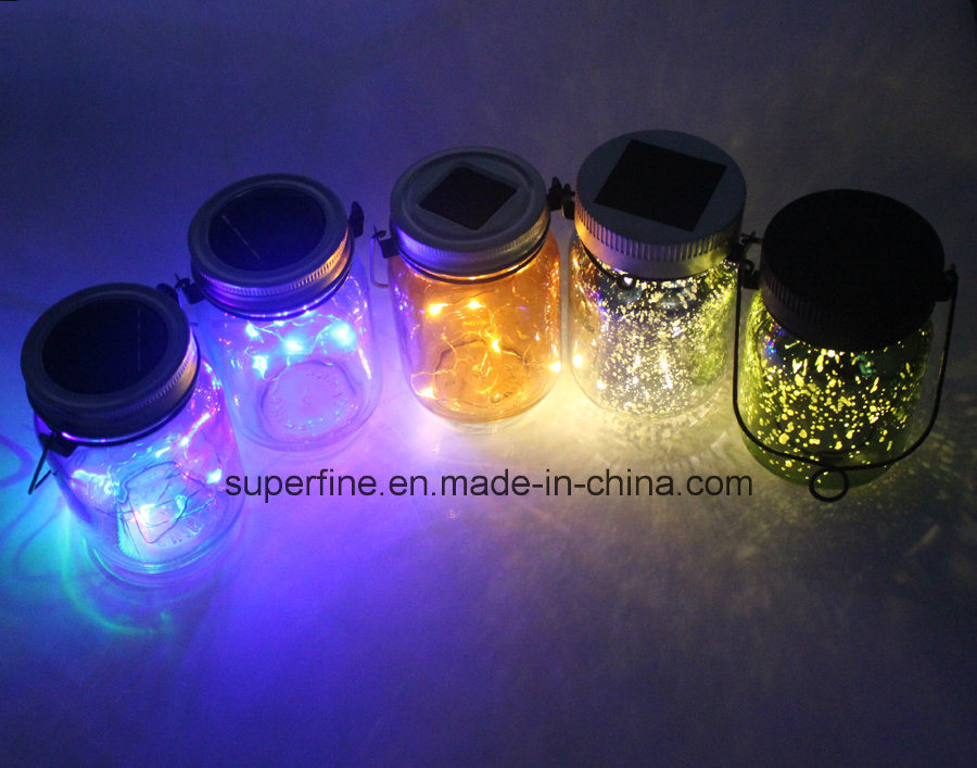 Home Decoration Romantic LED Solar Fairy Flickering Light Jar
