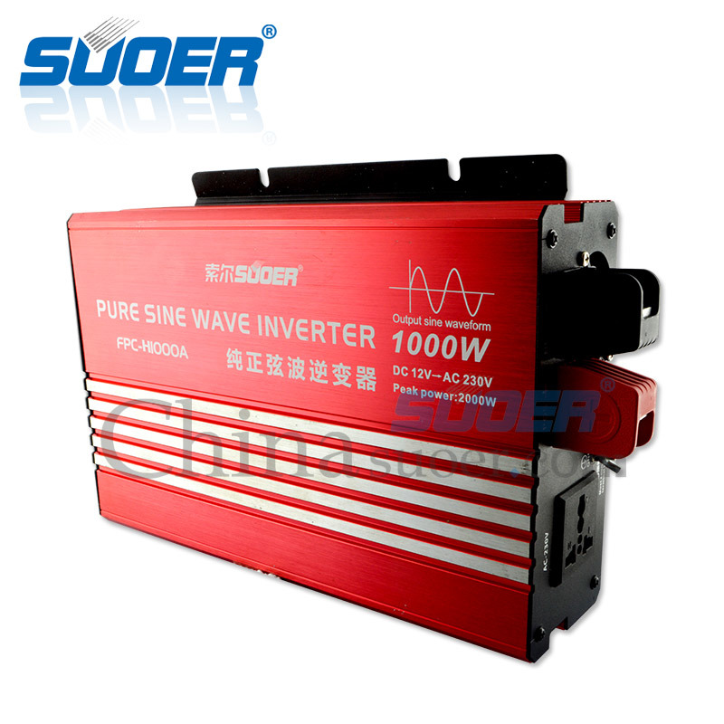 Suoer New Generation True Sine Wave Inverter 1000W 220V 230V Solar Power Inverter (FPC-H1000A) pictures & photos