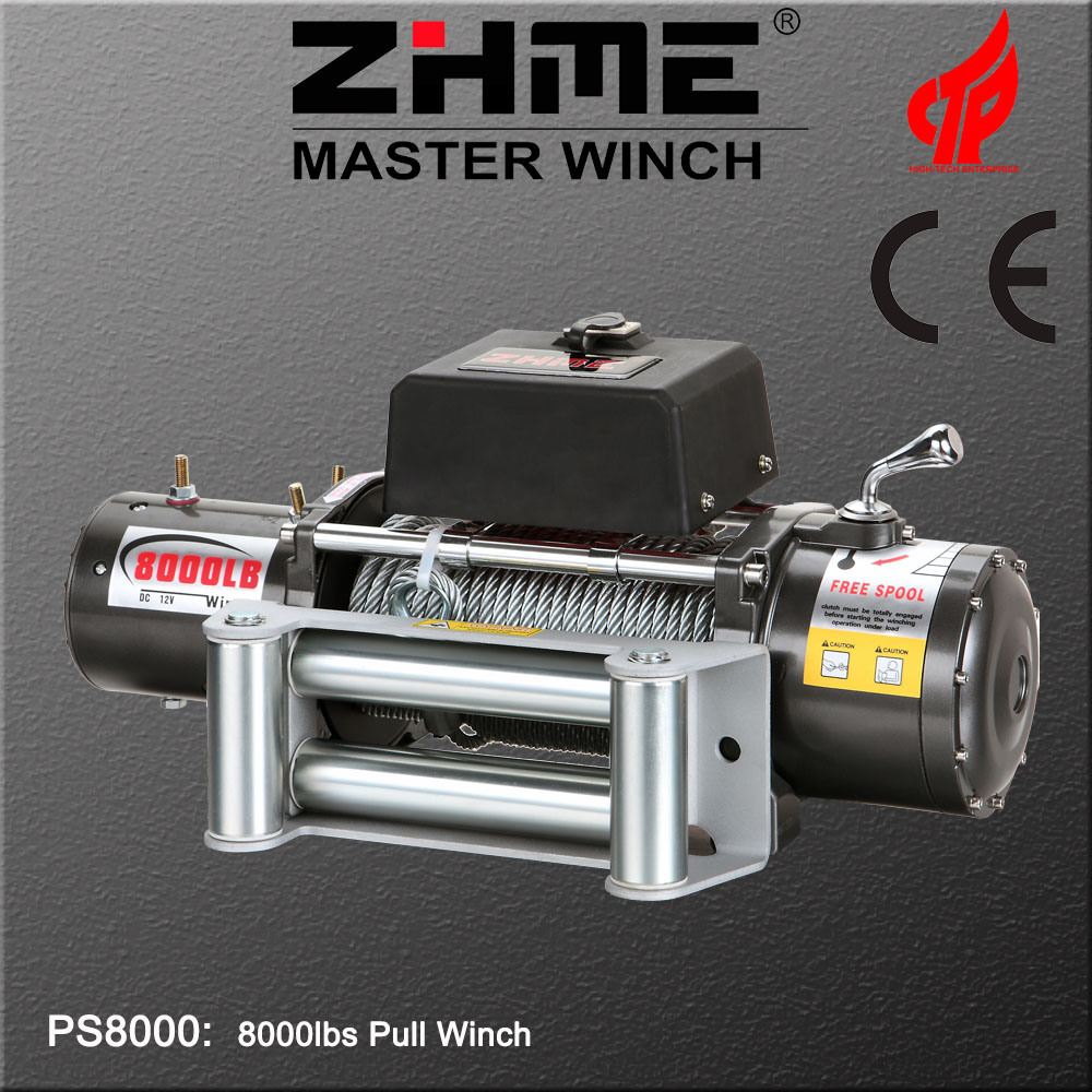 China 8000lbs Pull DC 12V Electric Winch with Wire Rope - China ...