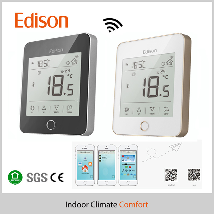 China Water /Electric Radiant Heating Wireless Thermostat