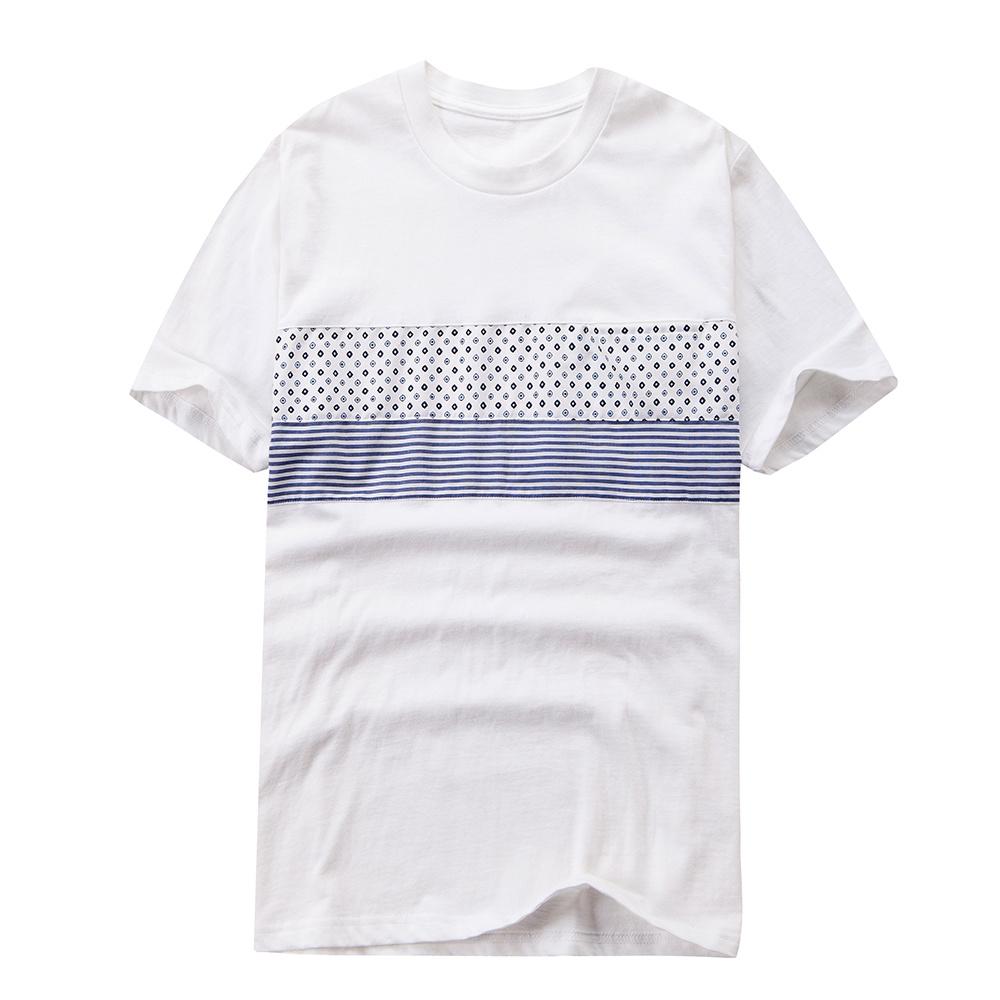 China Mens Casual Shirts Latest New Model Rib Shirts Two Tone T
