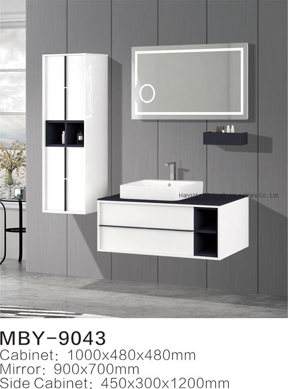 China White Pvc Bathroom Cabinet, Wall Hung Bathroom Vanities