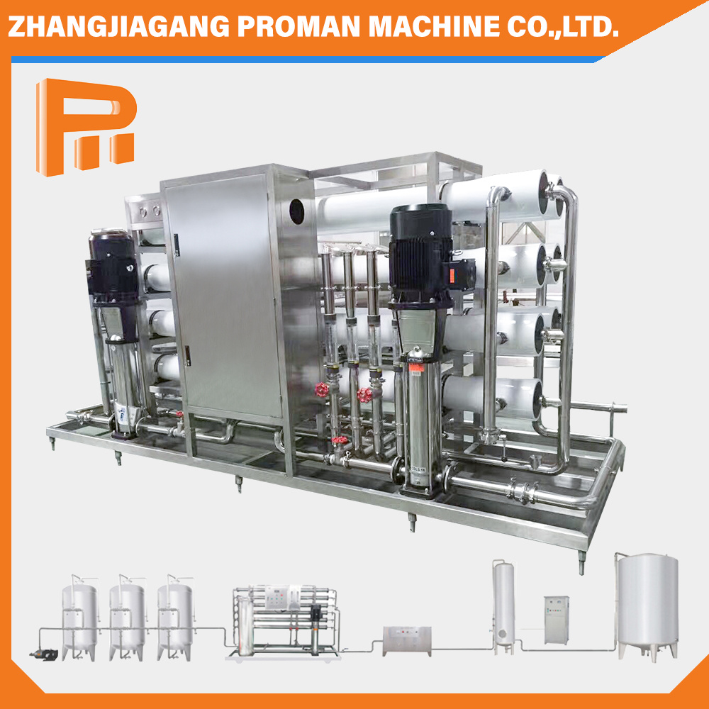 3000L/Hour Water Purifiying Machine Drinking Water Bottling Plant Hydranautics RO Membrane Reverse Osmosis Water Purification Treatment Equipment Filter System