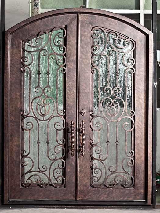 China Aluminium Wrought Iron Door Eyebrow Top China