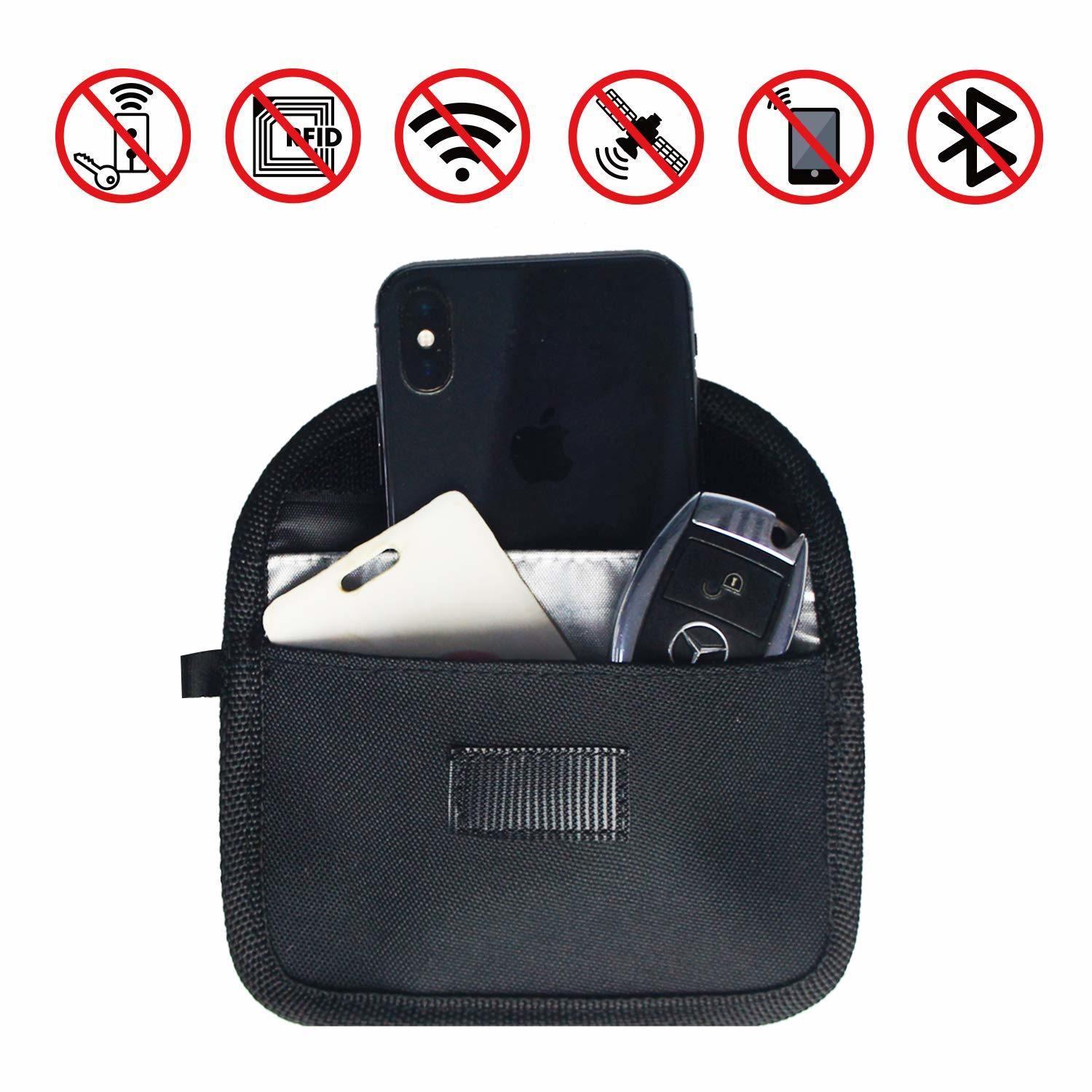 [Hot Item] RFID Signal Blocking Bag Shielding Pouch for Car Key Fob and  Cellphone Privacy Protection