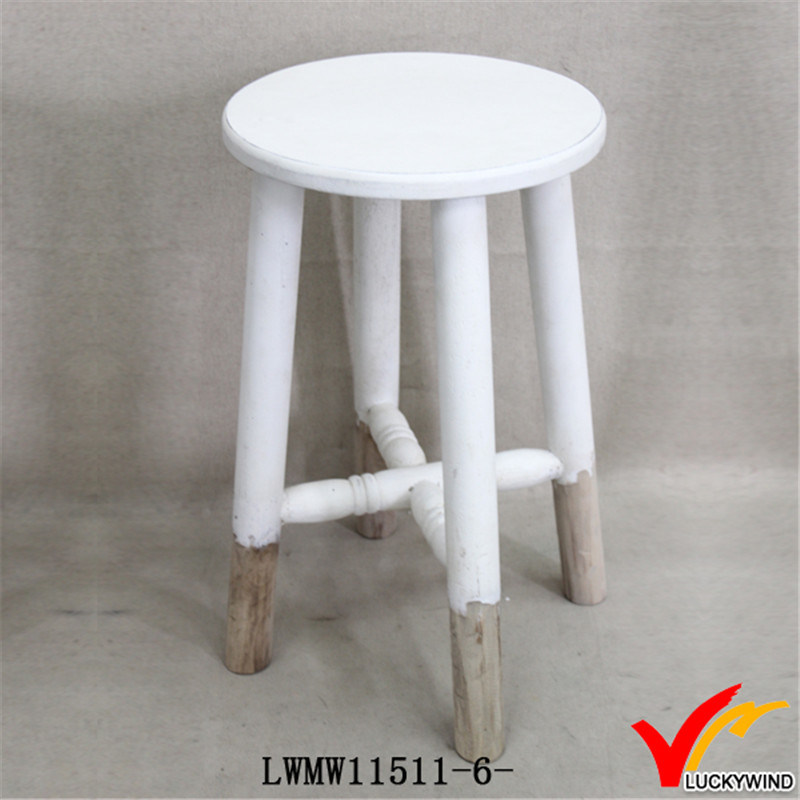 Excellent China Vintage White Finish Wood Round Chair Garden Stool Gmtry Best Dining Table And Chair Ideas Images Gmtryco
