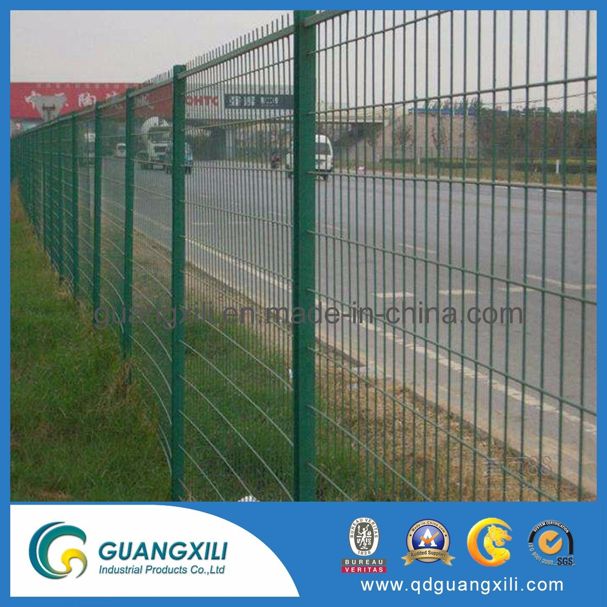 Steel Wire Fence | China Construction Road Steel Wire Temporary Galvanized Safety Fence