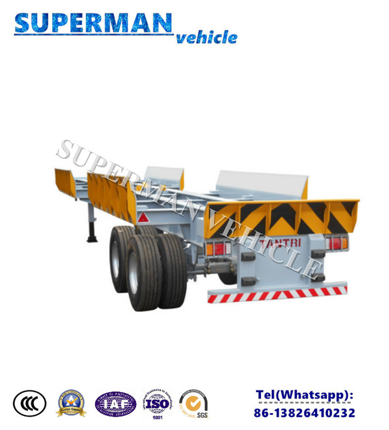 China Utility Port Use Terminal Skeleton Frame Container Semi Truck ...