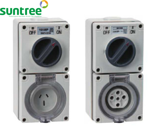 3 Phase Combo Switch & Socket with Good Quality