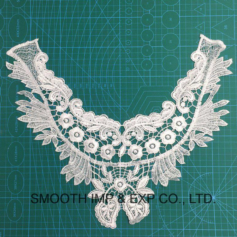 China Fashion Embroidery Cotton Fabric Crochet Lace Collar