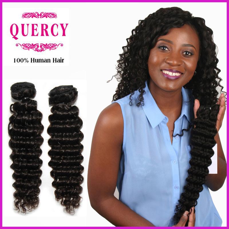 China Free Sample 100 Remy Human Hair Deep Wave Hair Extension