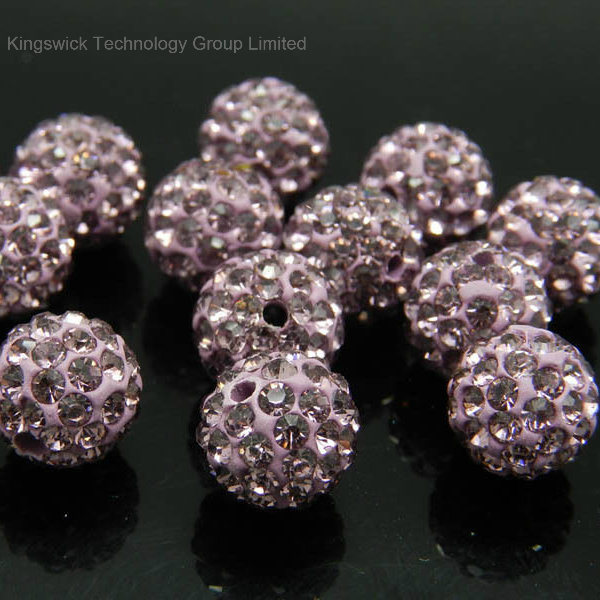 12MM Rhinestone 100 Pcs Crystal Shamballa Beads Pave Disco Balls Glod
