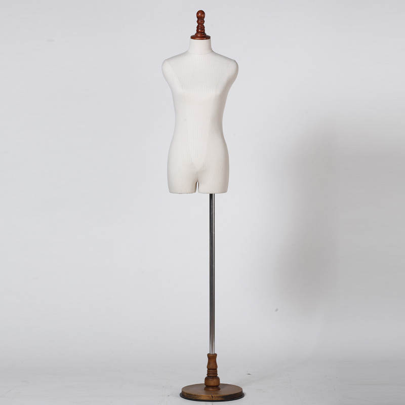 Fabric Covered Female Dress Form Mannequin for Window