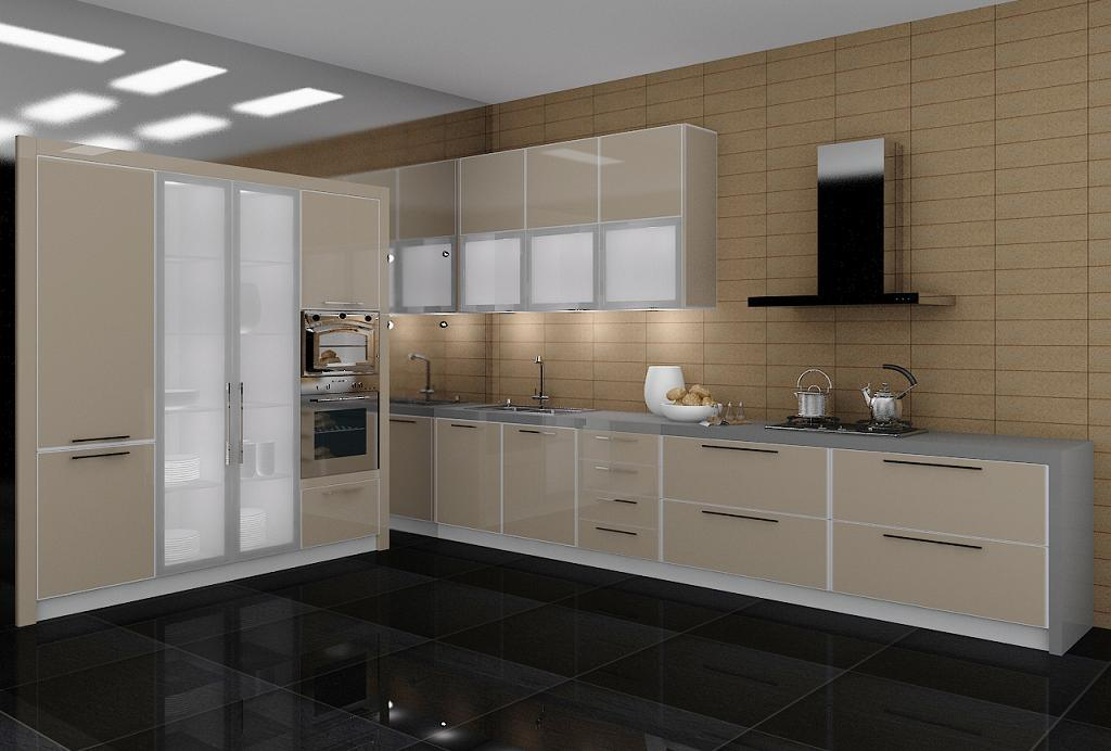 Anti-Scratch Lct Glossy MDF or Plywood for Kitchen Cabinet Door (LCT-3006)