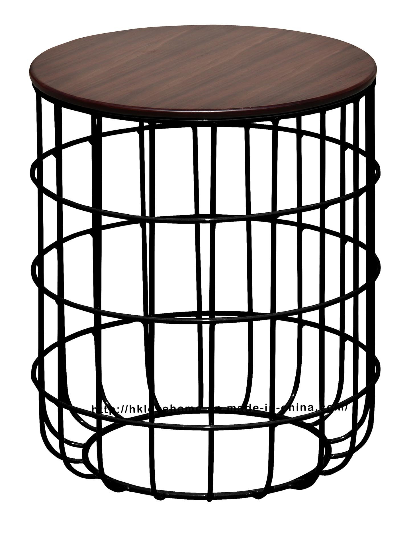 Morden Industrial Dining Coffee Metal Wire Wooden Marble Top Table