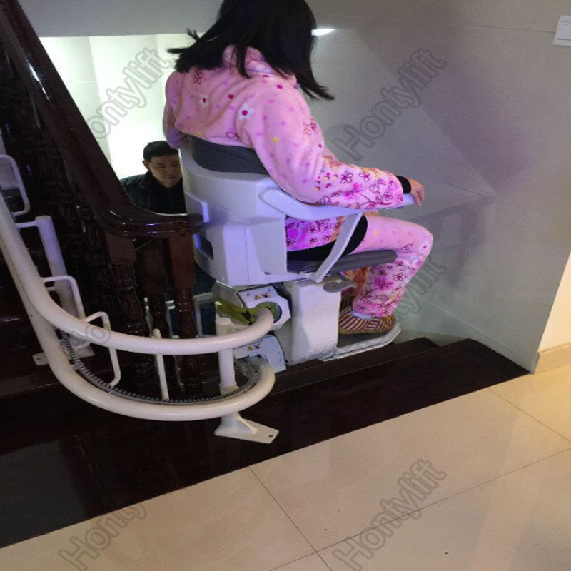 China Electric Curved Stair Chair Seat Lift for Disabled - China ...